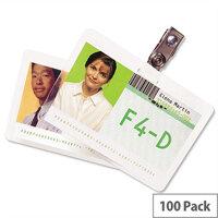 GBC ID Badge Laminating Pouches 250 Micron 67x98.5mm Pack 100