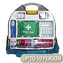 First Aid Kit Wallace Cameron Adulto Premier Kitchen Dispenser with Fire Extinguisher 10 Person