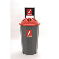 Plastic Bottle Recycling Bank 75L Colour Coded Eco Bin Red 374619