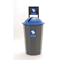 Blue Paper Recycling Bank 75L Colour Coded Eco Bin Blue 374620