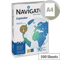 Navigator Expression A4 White Inkjet Printer Paper Extra Smooth 90gsm (500 Sheets) Ref NAV0321