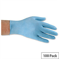 Keepsafe Nitrile Food Preparation Disposable Gloves Powder-Free Large Blue Pack 100