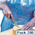 Polyco Aprons Polythene Disposable on Roll Blue Ref AP2912B [Pack 200]