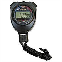 Digital Stopwatch Water Resistant Battery Operated Black