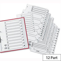 Concord Classic Jan-Dec Index Reinforced 4 Holes A4 Subject Divider White