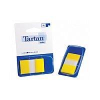 Tartan Index Tab Dispenser 25x43mm 50 Sheet Yellow 7000501980