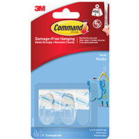 Command Hooks with Strips Small Clear 2HKS+4S 17092CLR