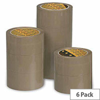 Scotch Buff Packaging Tape Polypropylene 50mm x 66m (6 Pack)