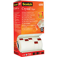 Scotch Crystal Tape 19mm x 33m Pack of 14 CRYSTAL14VP