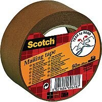 Scotch Paper Mailing Tape 50mm x 50m Brown P.5050.S