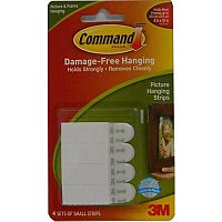 3M Command Small Picture Hanging Strips Pk 4 17202