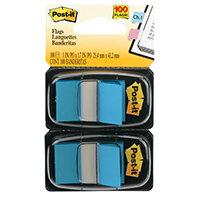 Post-It Index Flag Dispenser Dual Pack Bright Blue 680-BB2EU