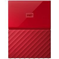 WD My Passport WDBYNN0010BRD External Hard Drive 1 TB USB 3.0 Red
