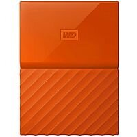 WD My Passport WDBYNN0010BOR External Hard Drive 1 TB USB 3.0 Orange