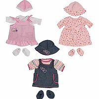 Set of 3 Doll's Clothes - Girls Set