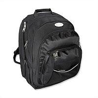 "Black Laptop Backpack with Detachable 17"" Laptop Sleeve Lightpak Advantage"