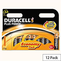 Duracell Plus Power AA Alkaline Battery 1.5V (Pack 12) 081275378