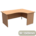 Trexus Classic Radial Office Desk Panelled Right Hand W1600xD1200xH725mm Beech