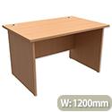 Panel End Desk Rectangular W1200xD800xH725mm Beech Trexus Classic