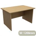 Panel End Desk Rectangular W1200xD800xH725mm Urban Oak Ashford