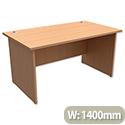 Panel End Desk Rectangular W1400xD800xH725mm Beech Trexus Classic