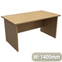 Panel End Desk Rectangular W1400xD800xH725mm Urban Oak Ashford