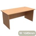 Panel End Desk Rectangular W1600xD800xH725mm Beech Trexus Classic