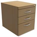 Fixed Pedestal for Cantilever Desk 3-Drawer Urban Oak Kito