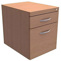 Trexus Fixed Filing Pedestal 2 Drawer Beech for Cantilever Desk