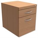 Fixed Filing Pedestal for Cantilever Desk 2-Drawer Beech Trexus