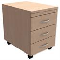Mobile 3-Drawer Pedestal Maple Kito