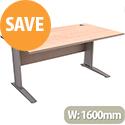Cantilever Office Desk Rectangular W1600xD800xH725mm Beech Komo