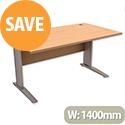 Cantilever Office Desk Rectangular W1400xD800xH725mm Beech Komo