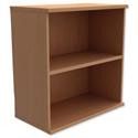 Low Bookcase Ajustable Shelf Floor-leveller Feet Beech Trexus