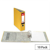 5 Star Office Lever Arch File 70mm A4 Yellow Pack 10