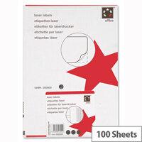 5 Star Address Labels 199.6 x 289.1mm (100 Labels)