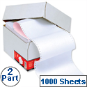 2 Part NCR Listing Paper 241mm Plain 1000 Sheets 5 Star