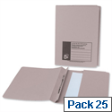 Flat File with Pocket Recycled Manilla 38mm Foolscap Buff Pack 25 5 Star