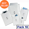Jiffy Airkraft Size 4 Bubble Lined Postal Bags 240x320mm White Pack of 10