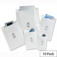 Jiffy Airkraft Size 5 Bubble Lined Postal Bags 260x345mm White Pack of 10
