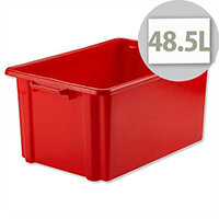 Strata Storemaster Jumbo Crate Red 48.5 Litres