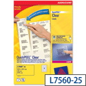 Avery 21 Per Sheet Clear Laser Label (Pack of 525)
