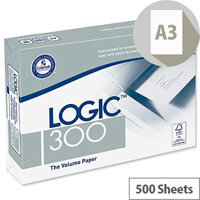 Logic 300 A3 80gsm White Printer Paper FSC Ream of 500 Sheets