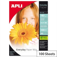 Apli A4 Glossy Everyday Photo Paper 180gsm (Pack of 100)