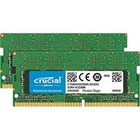 Crucial - DDR4 - 16 GB: 2 x 8 GB - SO-DIMM 260-pin - 2666 MHz / PC4-21300 - CL19 - 1.2 V - unbuffered - non-ECC