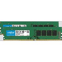 Crucial - DDR4 - 16 GB: 2 x 8 GB - DIMM 288-pin - 2666 MHz / PC4-21300 - CL19 - 1.2 V - unbuffered - non-ECC