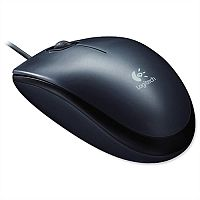 Logitech M100 Mouse USB Wired Optical 1000dpi Black 910-005003