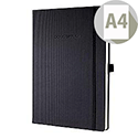Sigel A4 Conceptum Notebook Padded Hard Cover Ruled 194pp 80gsm Black Ref CO112