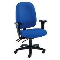 Vista HB High Back Asynchronous Ergonomic Posture Office Chair With Adjustable Arms & Lumbar Support Blue