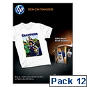 HP C6050A Iron On T-shirt Transfers A4 170gsm Pack 12